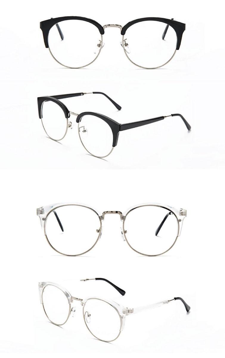 男女兼用のラウンドフレーム伊達眼鏡