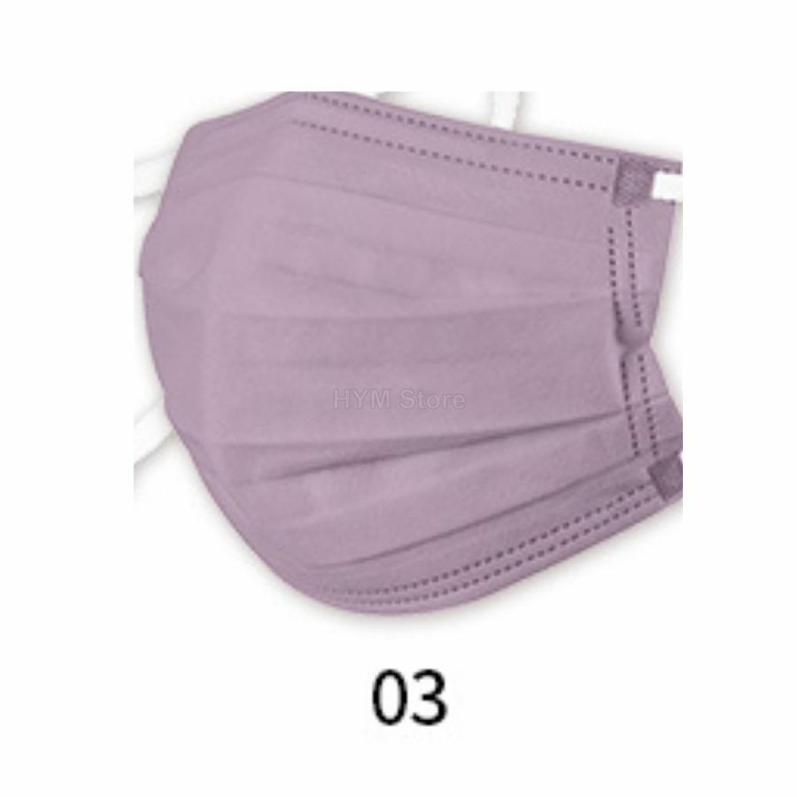 マスク 不織布 夏用 冷感マスク 血色マスク パステル 165mm カラー ふつう 50枚 平ゴム|hymstore|12