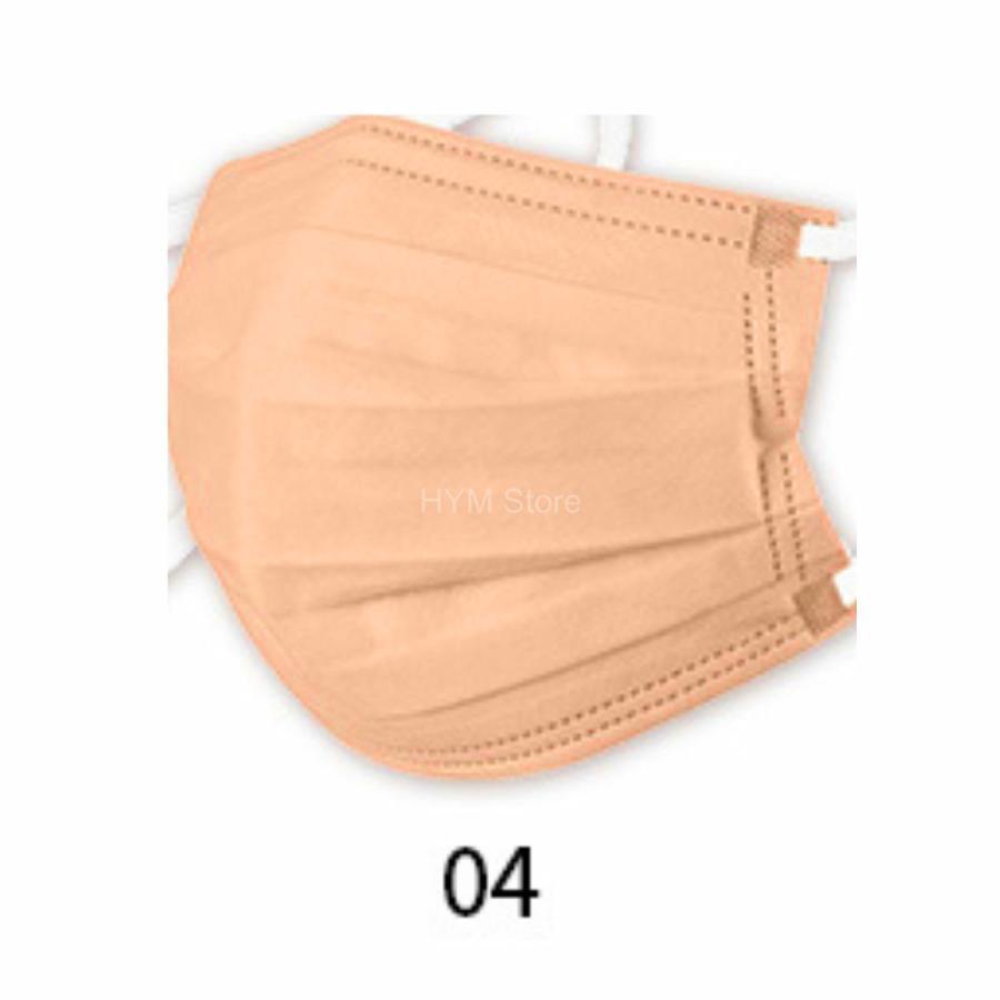 マスク 不織布 夏用 冷感マスク 血色マスク パステル 165mm カラー ふつう 50枚 平ゴム|hymstore|13