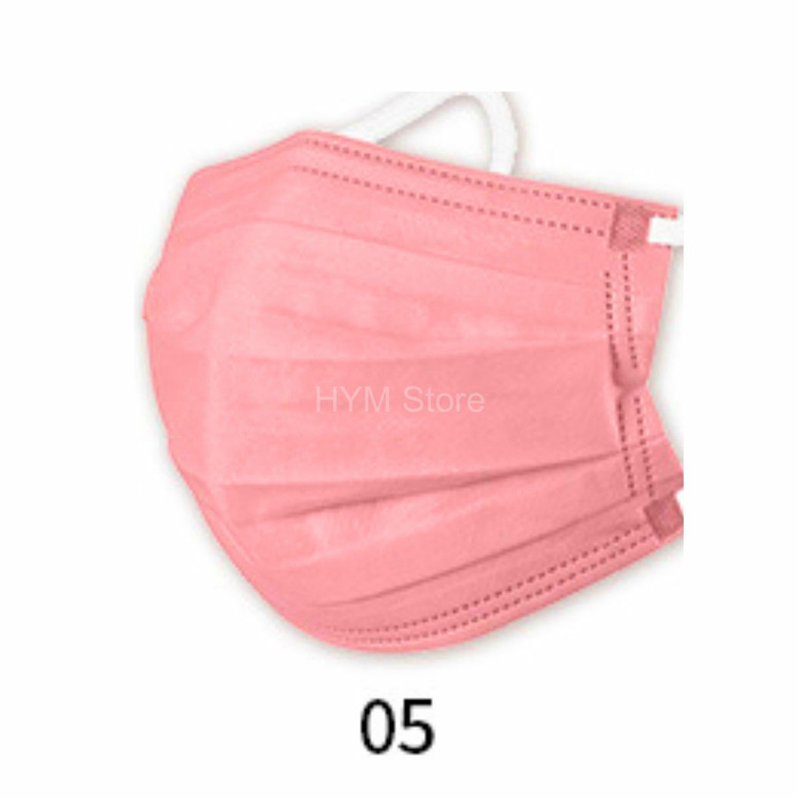 マスク 不織布 夏用 冷感マスク 血色マスク パステル 165mm カラー ふつう 50枚 平ゴム|hymstore|14