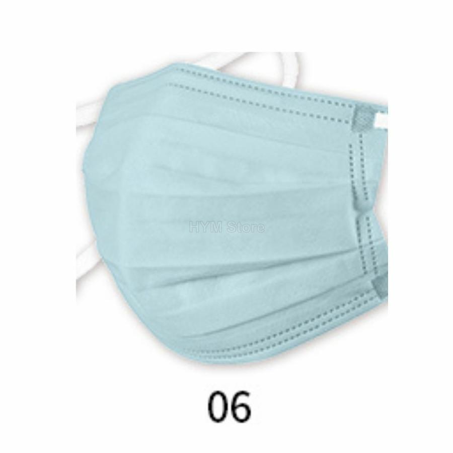 マスク 不織布 夏用 冷感マスク 血色マスク パステル 165mm カラー ふつう 50枚 平ゴム|hymstore|15