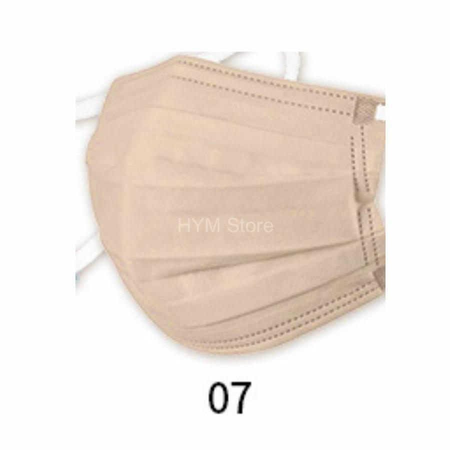 マスク 不織布 夏用 冷感マスク 血色マスク パステル 165mm カラー ふつう 50枚 平ゴム|hymstore|16