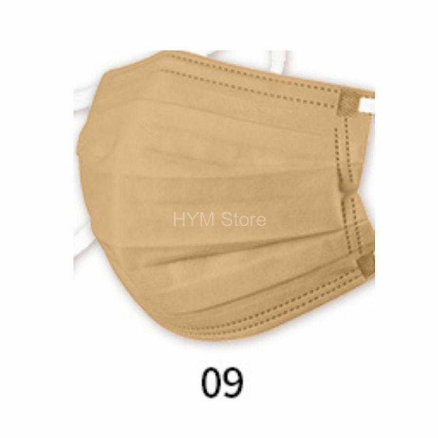 マスク 不織布 夏用 冷感マスク 血色マスク パステル 165mm カラー ふつう 50枚 平ゴム|hymstore|18