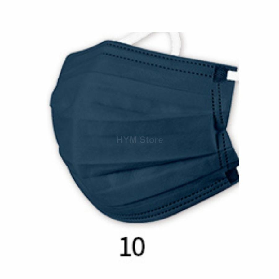 マスク 不織布 夏用 冷感マスク 血色マスク パステル 165mm カラー ふつう 50枚 平ゴム|hymstore|19