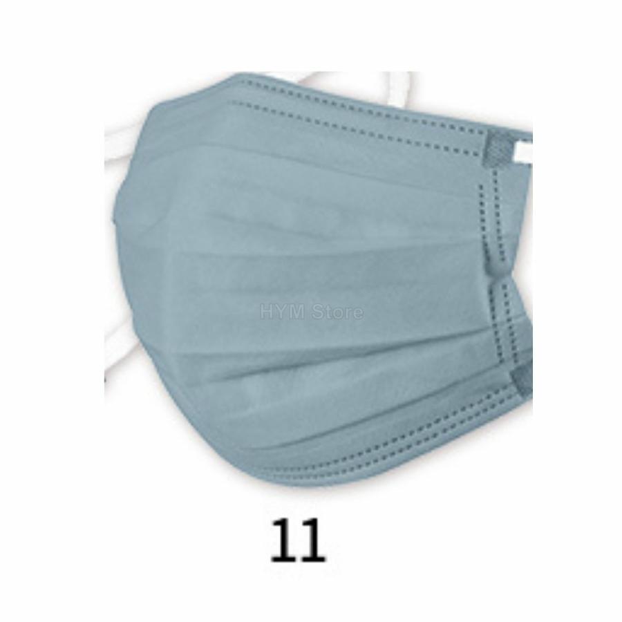 マスク 不織布 夏用 冷感マスク 血色マスク パステル 165mm カラー ふつう 50枚 平ゴム|hymstore|20