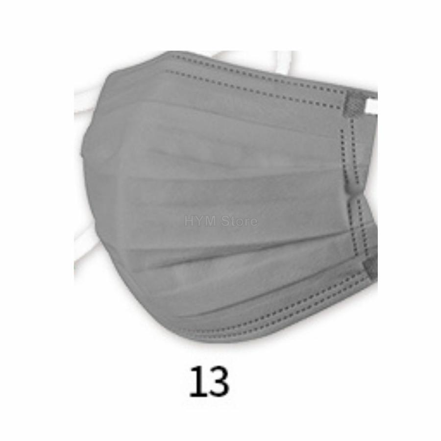 マスク 不織布 夏用 冷感マスク 血色マスク パステル 165mm カラー ふつう 50枚 平ゴム|hymstore|22