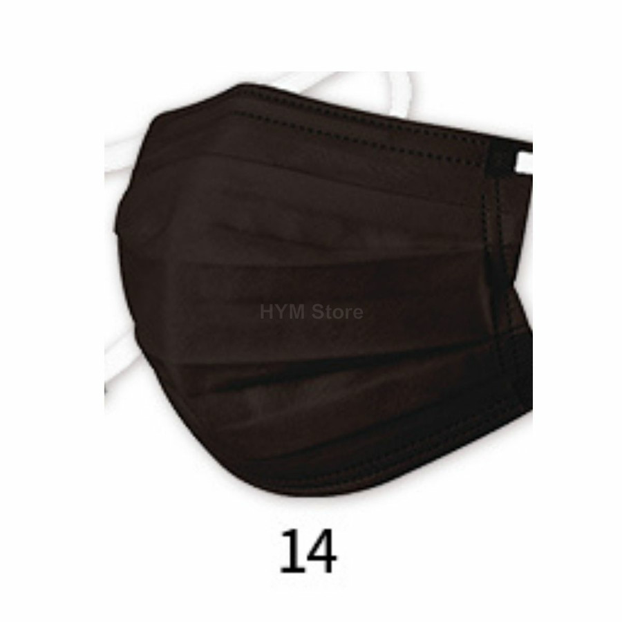 マスク 不織布 夏用 冷感マスク 血色マスク パステル 165mm カラー ふつう 50枚 平ゴム|hymstore|23