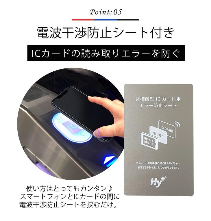 iPhoneX ケース ICカード収納 車載 カーマウント カバー(電波干渉防止シート付き)