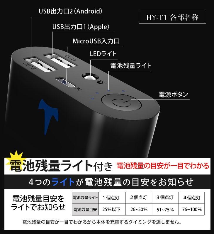 Yoobao 大容量モバイルバッテリー(スマホ充電器) 10200mAh HY-T1 (パナソニック製電池搭載、5つの安全機能付き)