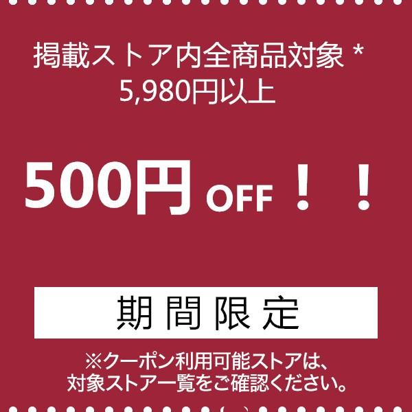 掲載ストア内全商品対象500円OFF