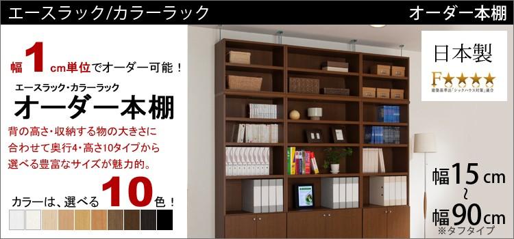 日本製オーダー本棚「エースラック カラーラック」大洋