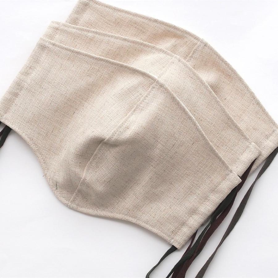 リネンマスクでつけ心地サッパリ! 中はポロシャツなどに使われる「鹿の子」生地で、乾きやすく肌に気持ちいい「ハローマスク」|i-crtshop|12