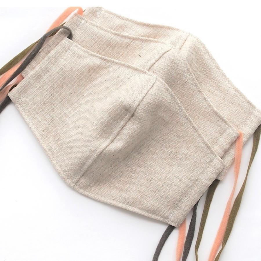 リネンマスクでつけ心地サッパリ! 中はポロシャツなどに使われる「鹿の子」生地で、乾きやすく肌に気持ちいい「ハローマスク」|i-crtshop|11