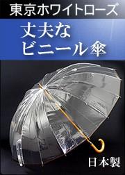 かてーる16 ホワイトローズ ビニール傘