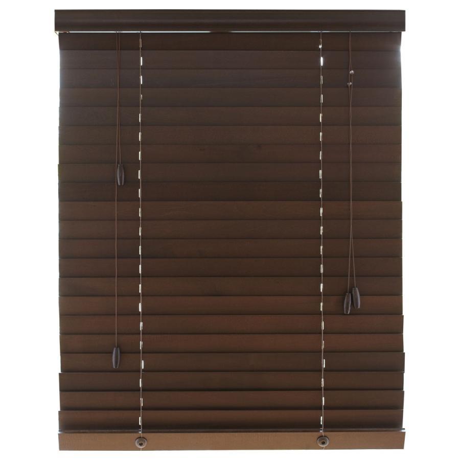 ブラインド ブラインドカーテン 木製ブラインド 木製 横型 ウッドブラインド オーダー 遮光 スラット35mm 幅34〜200cm 高さ31〜230cm (幅1cm単位)1年保証 i-mixon 23