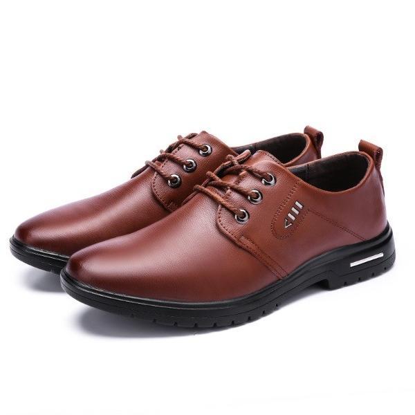 ビジネスシューズ メンズ 紳士靴 防滑ソール 紐靴 PU|i-tonya|21