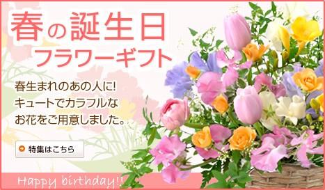 春の誕生日フラワーギフト