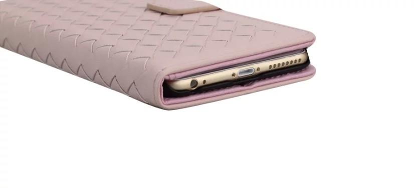 iPhone5/5s/6/6s/6plus/6sPlus/GalaxyS6のボッテガ風編み込みレザーケースの充電穴部分