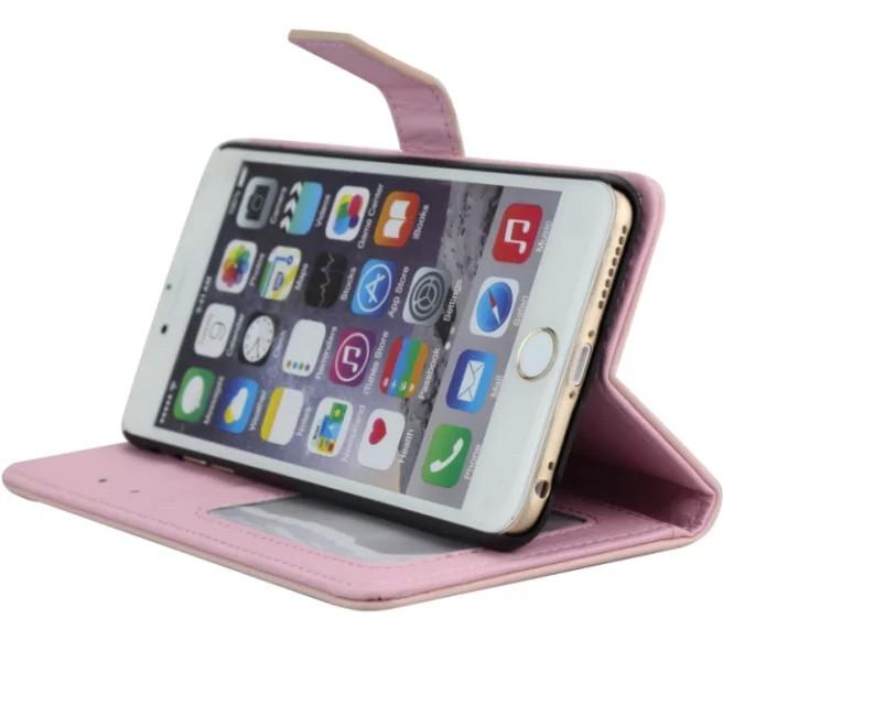 iPhone5/5s/6/6s/6plus/6sPlus/GalaxyS6のボッテガ風編み込みレザーケースのスタンド機能