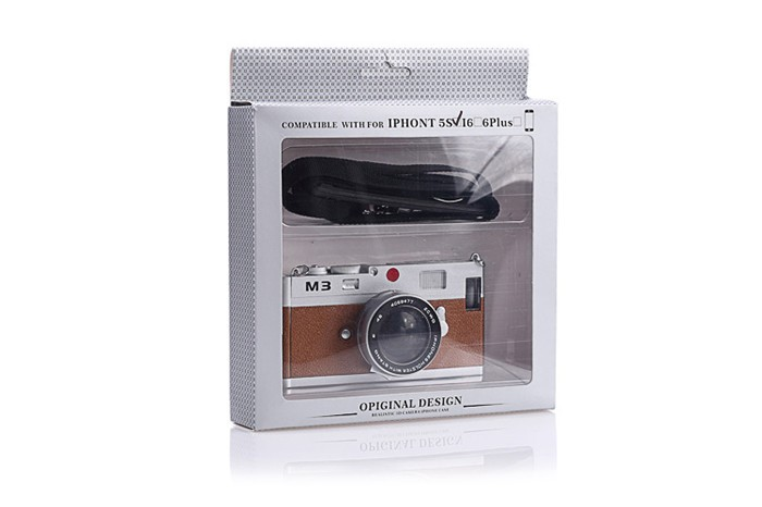 立体カメラ型iPhone6/5/5sスマホケースのお届けパッケージ