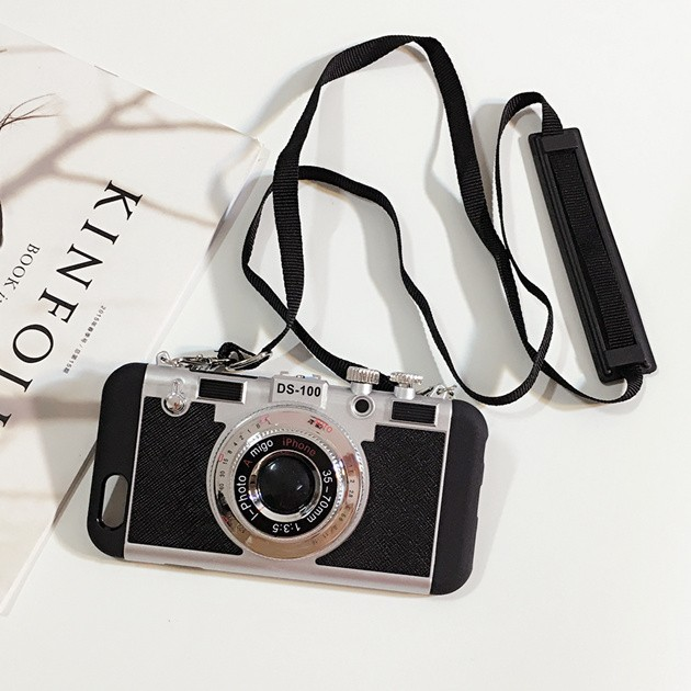 立体カメラ型iPhone6/6s/6plusスマホケースの使用イメージ1