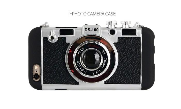 立体カメラ型iPhone6/6s/6plusスマホケースのブラック