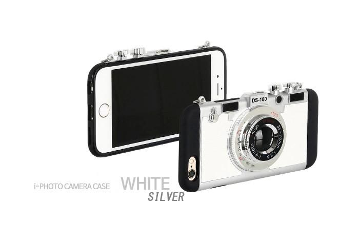 立体カメラ型iPhone6/6s/6plusスマホケースの白