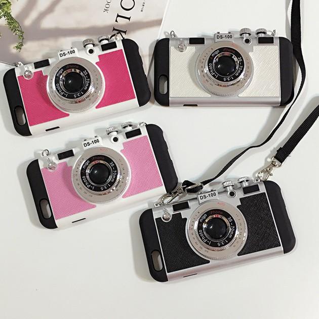 立体カメラ型iPhone6/6s/6plusスマホケースのカラー全四種