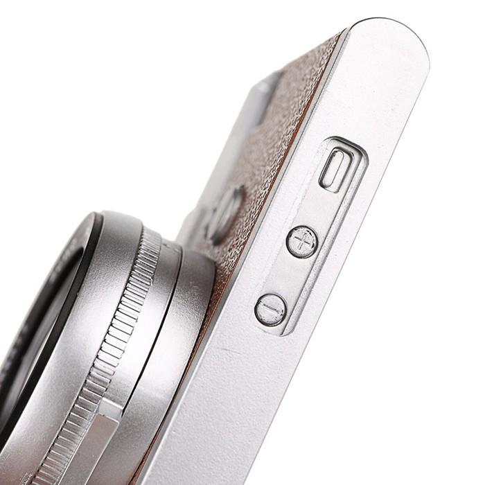 立体カメラ型iPhone6/5/5sスマホケースの音量ボタン穴アップ