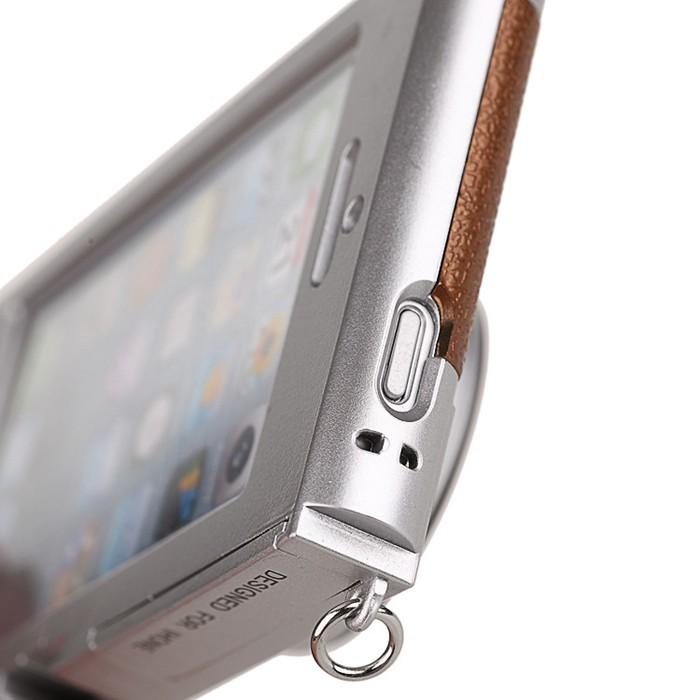 立体カメラ型iPhone6/5/5sスマホケースの電源ボタン穴アップ