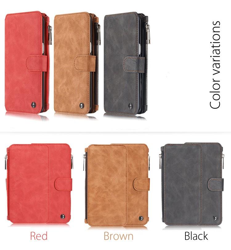 iPhone6/6s/6Plus/6sPlus/Galaxys6edgePlus/note5のカード収納14枚の多機能ウォレットケースの全3色