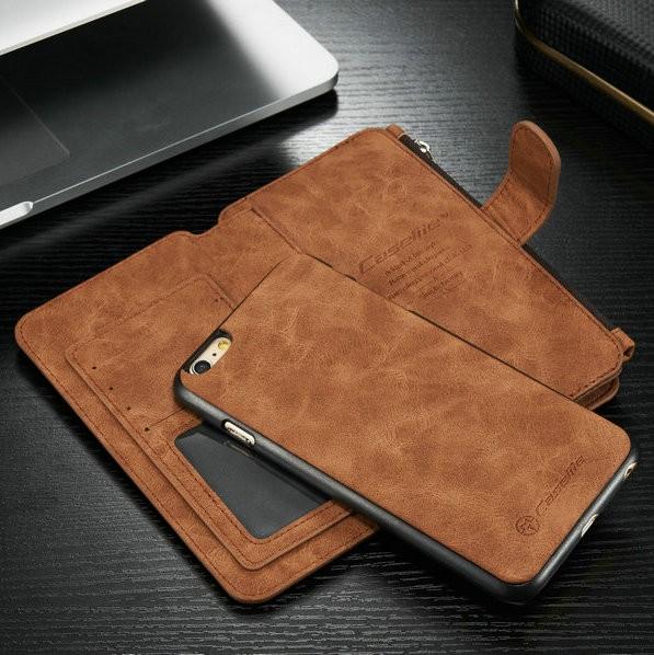 iPhone6/6s/6Plus/6sPlus/Galaxys6edgePlus/note5のカード収納14枚の多機能ウォレットケースのスマホ取外し時