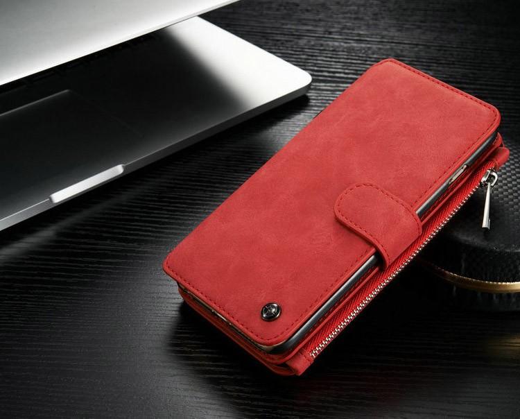 iPhone6/6s/6Plus/6sPlus/Galaxys6edgePlus/note5のカード収納14枚の多機能ウォレットケースのレッド3