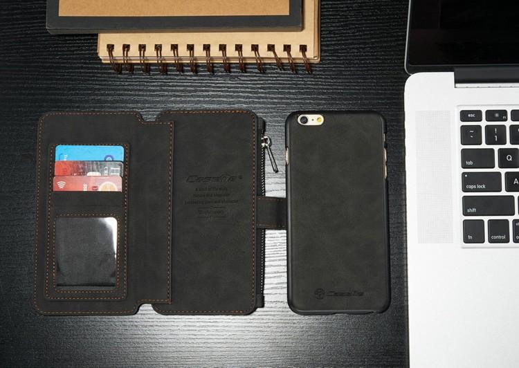 iPhone6/6s/6Plus/6sPlus/Galaxys6edgePlus/note5のカード収納14枚の多機能ウォレットケースのブラック2