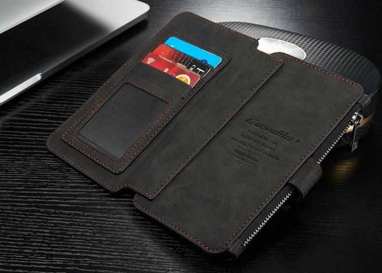 iPhone6/6s/6Plus/6sPlus/Galaxys6edgePlus/note5のカード収納14枚の多機能ウォレットケースのブラック4