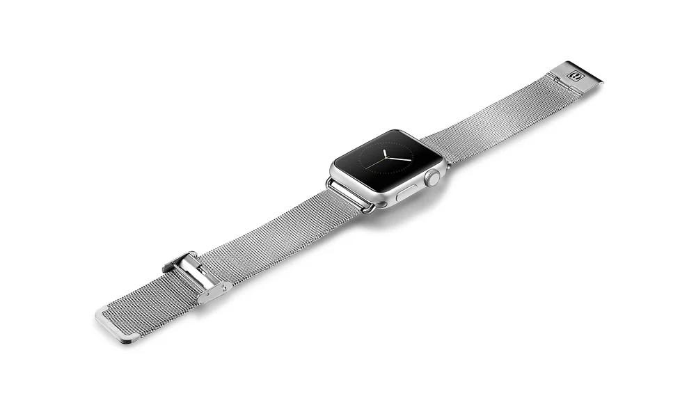 apple watch 高級ステンレスベルトの装着時
