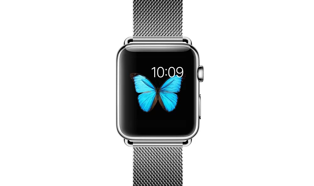 apple watch 高級ステンレスベルトの表側デザイン