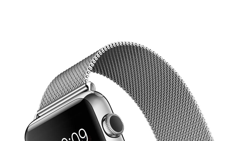 apple watch 高級ステンレスベルトのベルト部分アップ