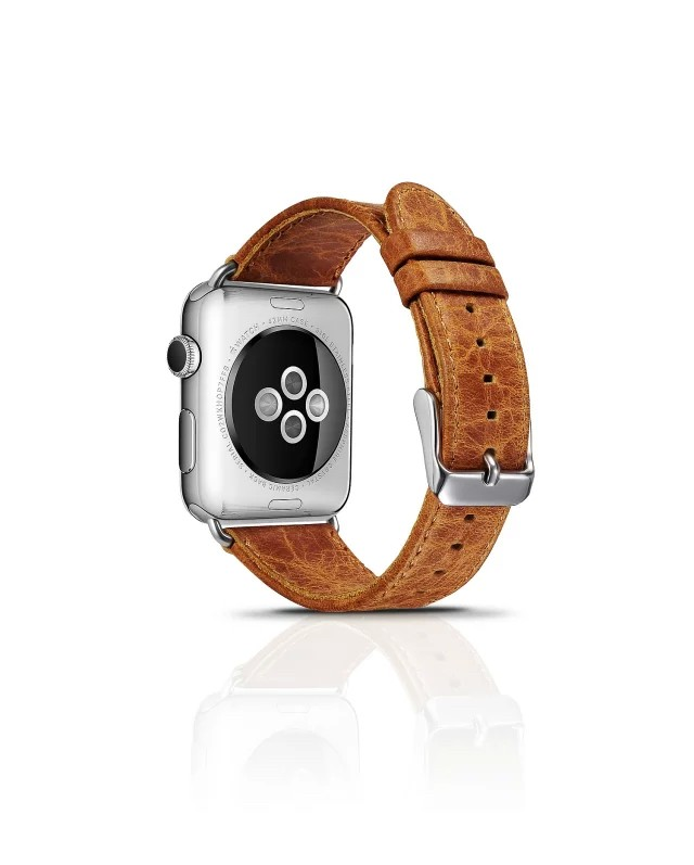 apple watch 高級本革ベルトの裏側デザイン