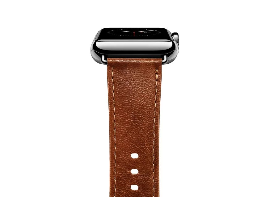 apple watch 高級本革ベルトの接続部分アップ