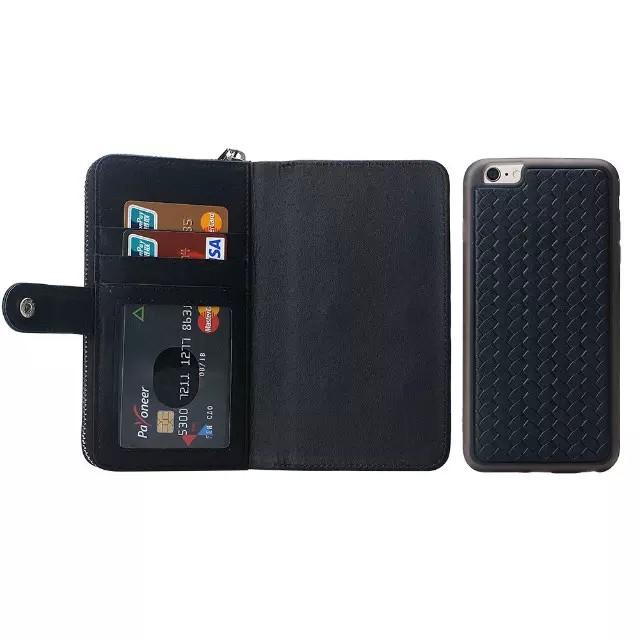 iPhone6/6s/6Plus/6sPlus/GALAXY対応ボッテガ風財布型ケースのスマホ取り外しイメージ1