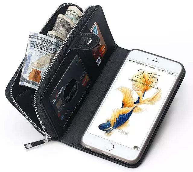 iPhone6/6s/6Plus/6sPlus/GALAXY対応ボッテガ風財布型ケースの紙幣収納
