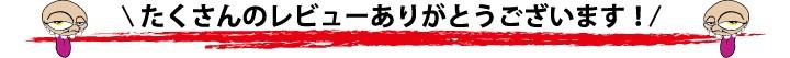 たくさんのレビューありがとうございます。