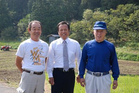 田村米創立者、西本さんと市議会議員