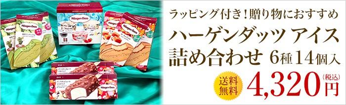 ハーゲンダッツ アイスクリーム エメラルドセット(4種・14個入り)