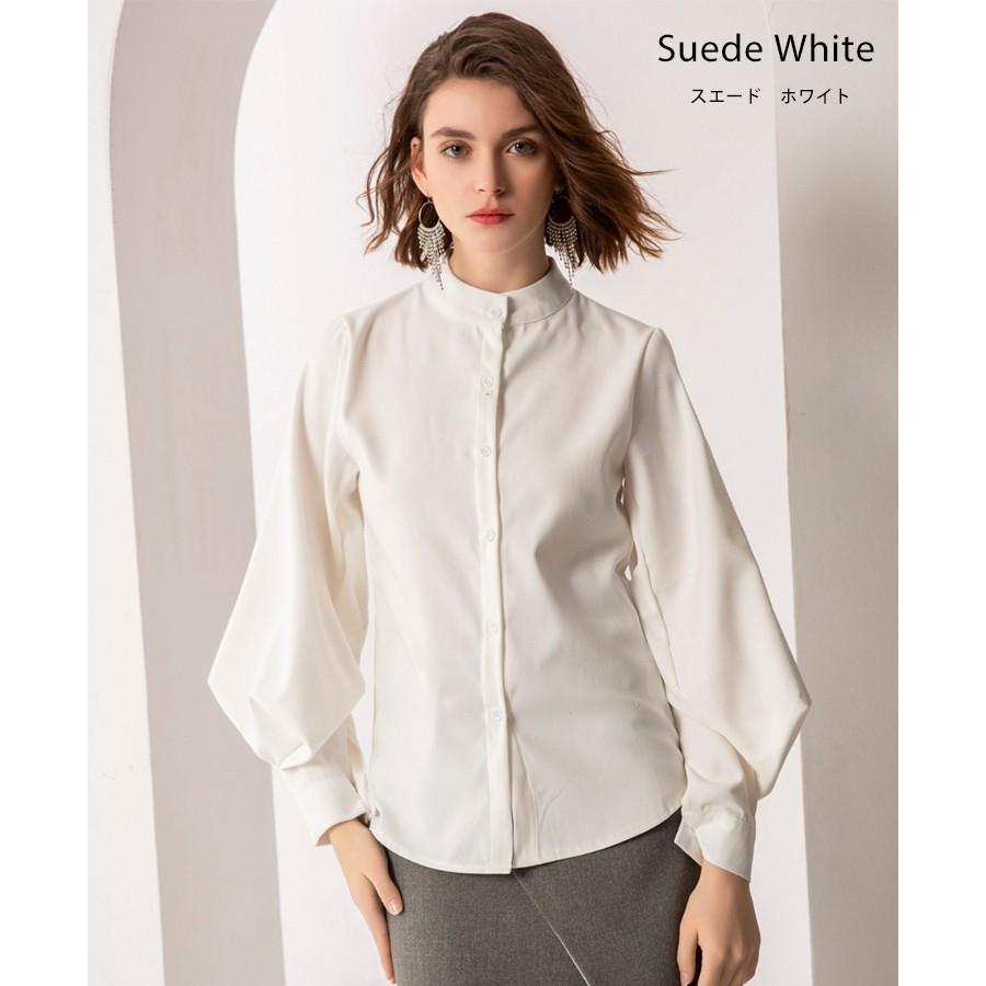 バルーン 袖 バンドカラー チュニック シャツ tops00020|icecrystal|24