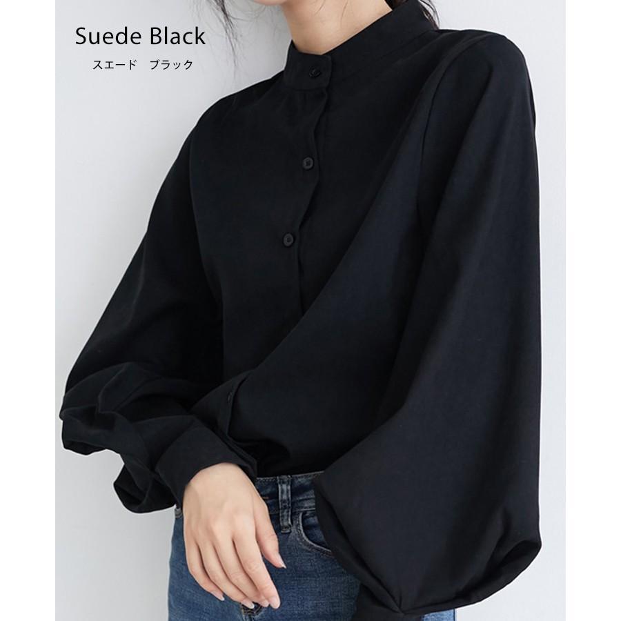 バルーン 袖 バンドカラー チュニック シャツ tops00020|icecrystal|25