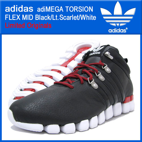 hot sale online 42c62 bcf26 アディダス adidas アディメガ トルション フレックス ミッド BlackLt.ScarletWhite 限定 オリジナルス