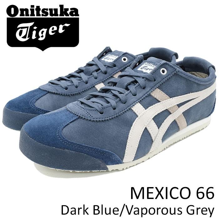 onitsuka tiger mexico 66 dark blue vaporous grey gray blue