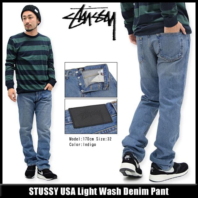 STUSSYステューシーのパンツ USA Light Wash Denim01